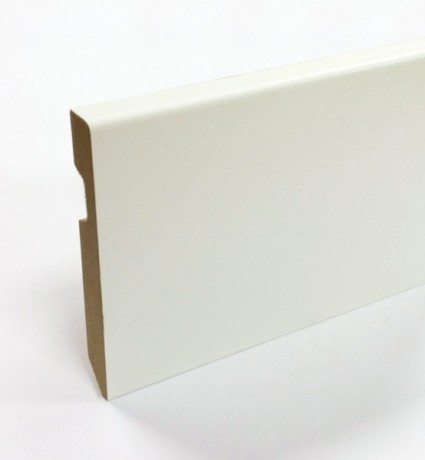 Plinthe médium pré-peinte film blanc carrée - 100 mm
