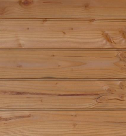Bardage douglas 21 x 125 mm - Fixations cachées
