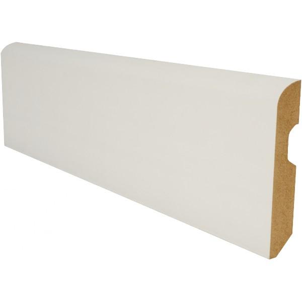 AC Bois  plinthe plaquée blanc 80mm arrondie ~ Plinthe Bois Blanc