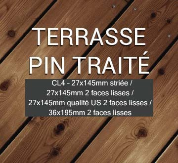 Terrasse Bois Pin traité