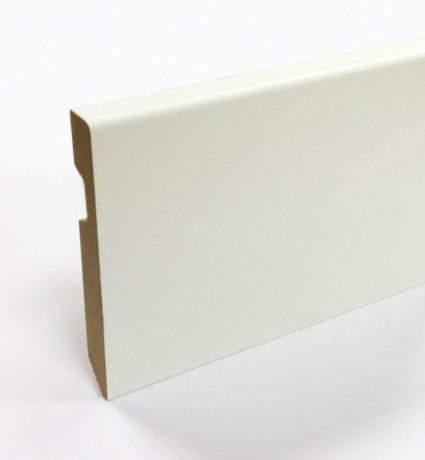 Plinthe pré-peinte blanc carrée - 70 mm