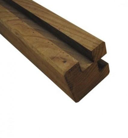 Poteau d'angle clôture cl4 marron 90 x 90 x 2400 mm